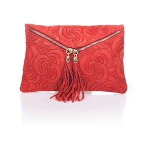 Skórzana kopertówka Flaire, czerwona