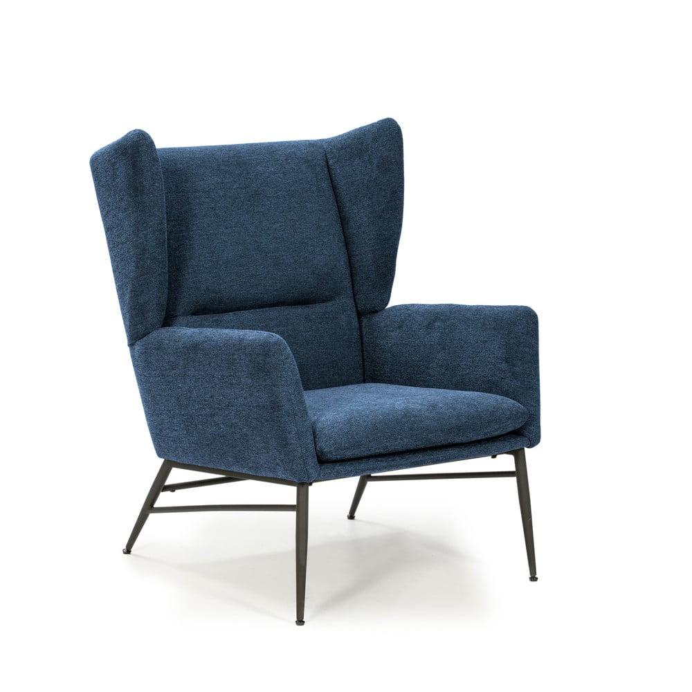 Niebieski fotel Marckeric Tilly