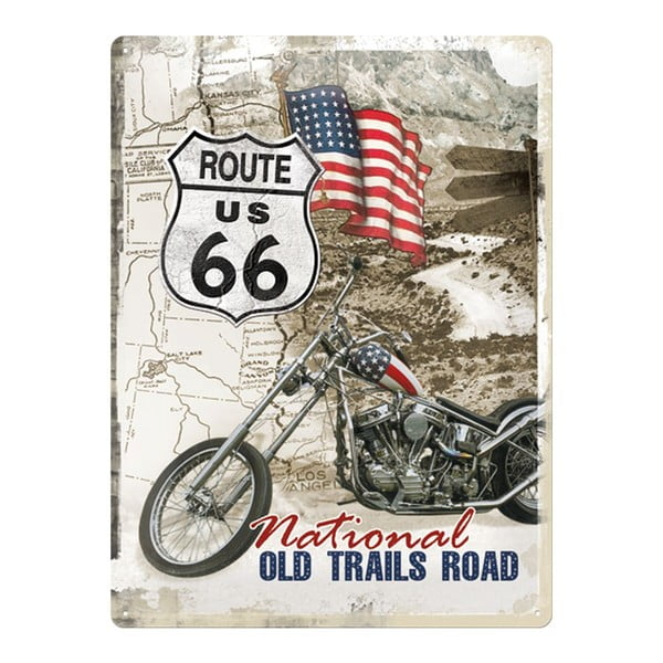 Blaszana tablica Route US 66, 30x40 cm