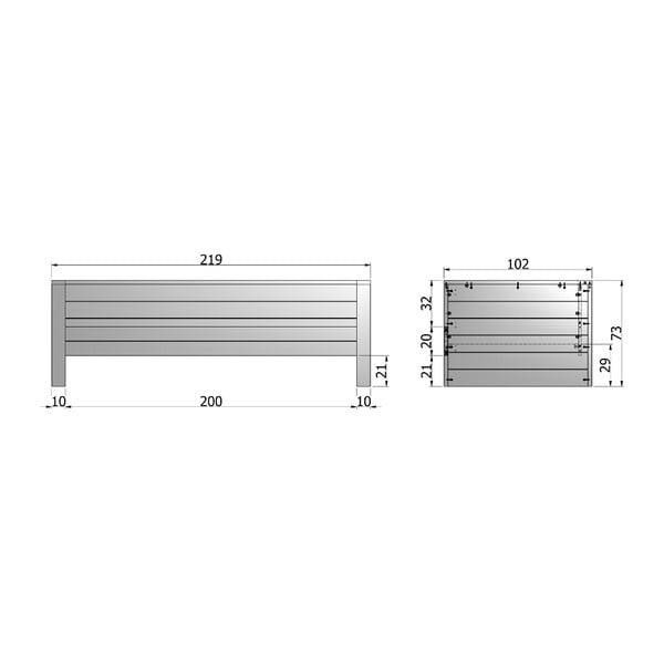 Stalowo-szare łóżko/sofa Dennis 90x200 cm