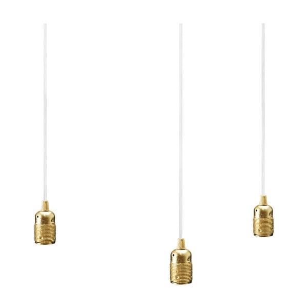 Potrójna lampa wisząca Uno, złoty/biały/złoty