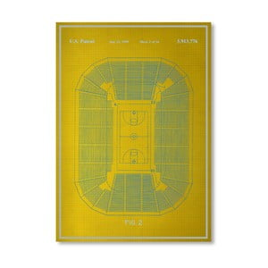 Plakat Basketball Court, 30x42 cm