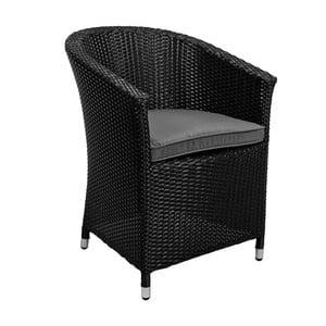 Czarny fotel ogrodowy z poduszką Butlers In and Out