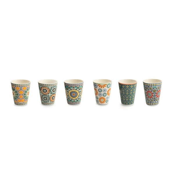Komplet 6 kubeczków z porcelany kostnej do kawy Villa d'Este Bisanzio, 90 ml
