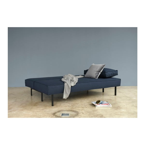 Niebieska sofa rozkładana Innovation Sly