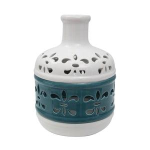 Niebiesko-biały wazon porcelanowy Mauro Ferretti Basso
