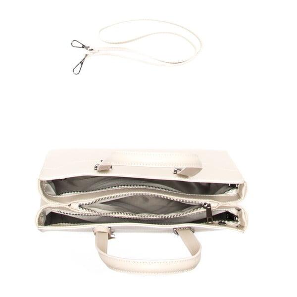 Skórzana torebka Carla Ferreri 3032 Beige