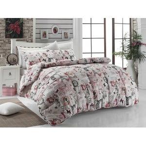 Narzuta pikowana na łóżko dwuosobowe Madame Pink, 195x215 cm