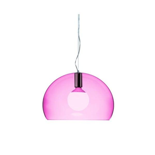Mała fioletowa lampa wisząca Kartell Fly