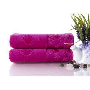 Zestaw 2 ręczników Tropical Fuchsia, 50x90 cm