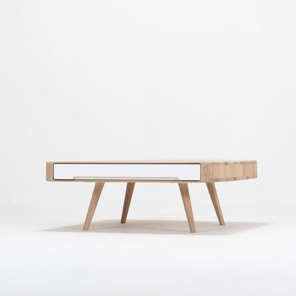 Stolik z drewna dębowego Gazzda Ena Club, 90x90x35 cm