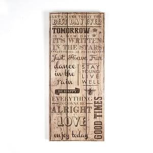 Obraz na drewnie Graham & Brown Best Day Ever, 30x70 cm