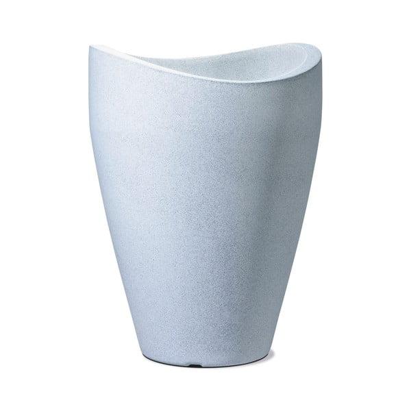 Donica ogrodowa Granit 40x30 cm, biała