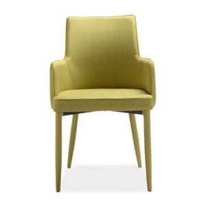 Zestaw 4 limonkowych krzeseł Intertrade Gala