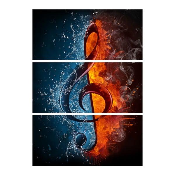 Obraz trzyczęściowy Muzyka moja miłość
