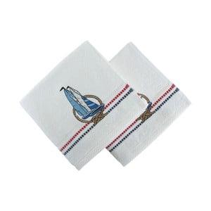 Zestaw 2 ręczników Marina White Yelken, 50x90 cm