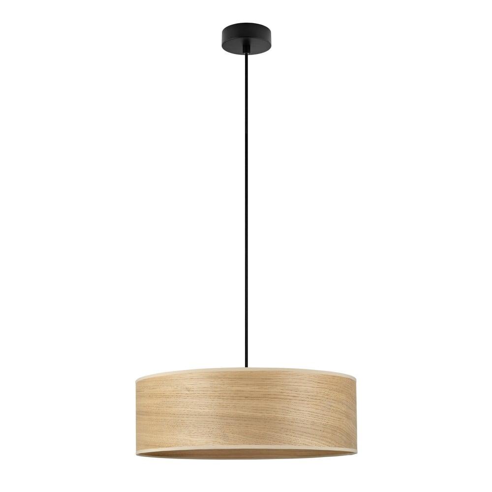 Lampa wisząca z kloszem z drewna dębowego Sotto Luce TSURI XL