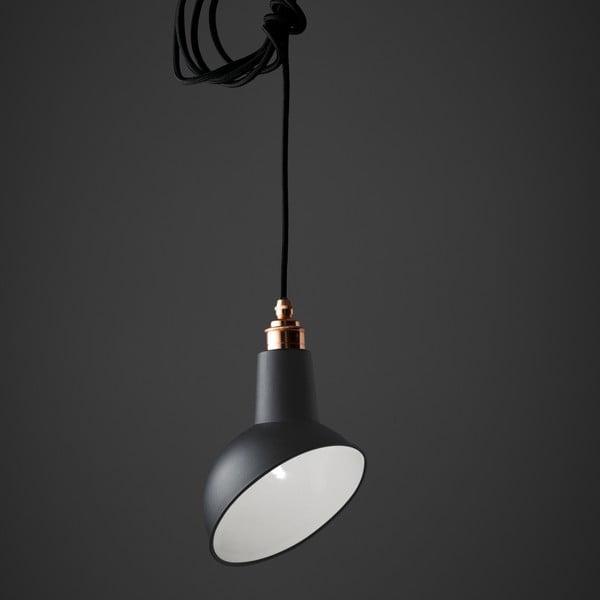 Lampa wisząca Miniature Angled Cloche Grey