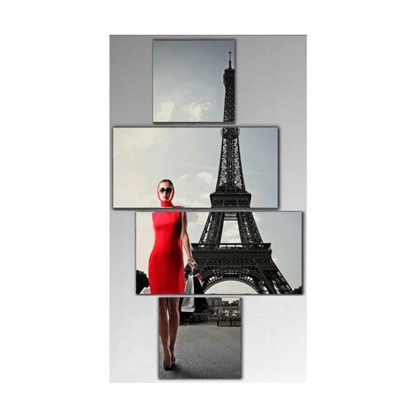 Czteroczęściowy obraz Eiffel, 50x100 cm