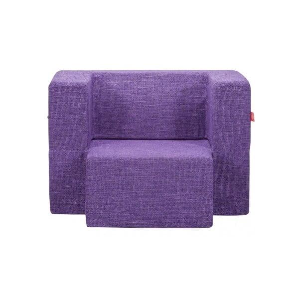 Fotel rozkładany Mini Tiramisu, borówkowy
