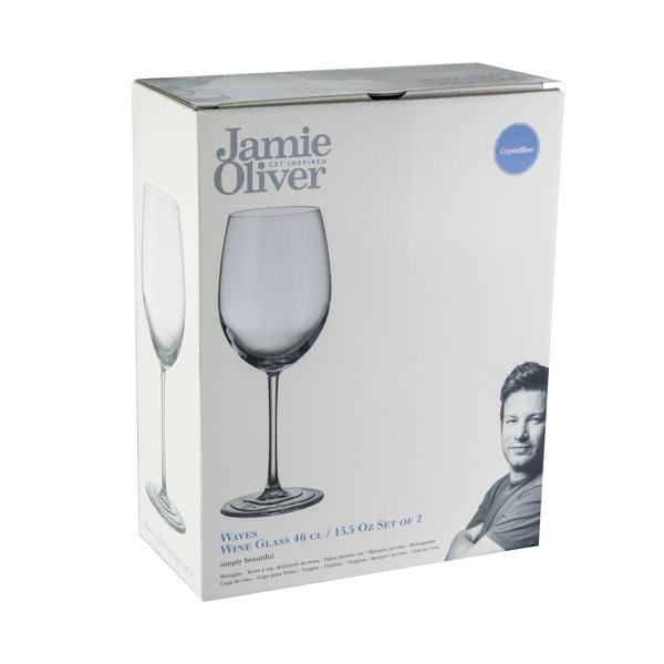 2 kieliszki do wina Jamie Oliver Waves, 460 ml