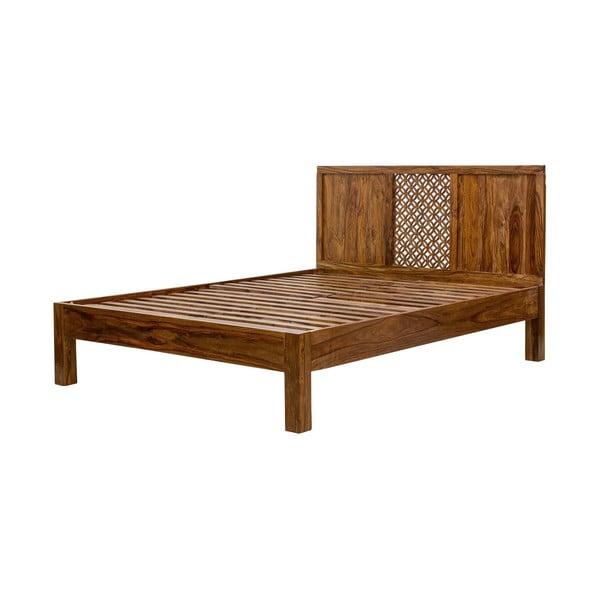 Łóżko z litego drewna palisandru Massive Home Rosie, 160x200 cm