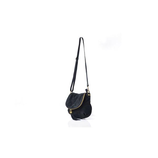 Skórzana torebka Louise, czarna