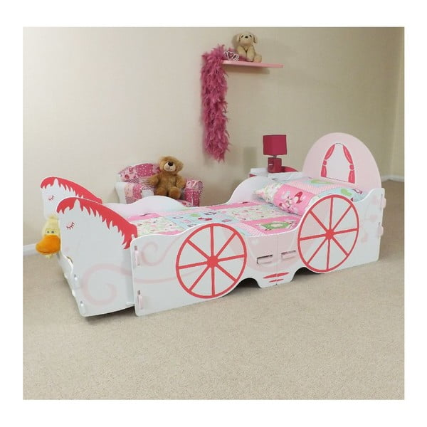 Dziecięce łóżko Princess Carriage Junior, 175x80x73 cm