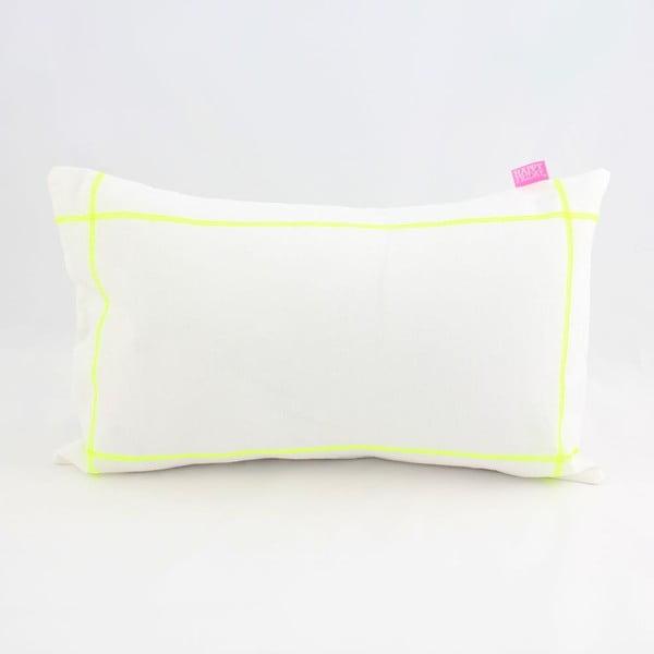Poszewka na poduszkę Basic Fluor yellow, 50 x 30 cm