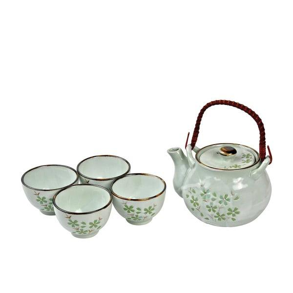 Porcelanowy zestaw do herbaty Green Cosmos