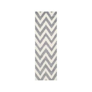 Dywan wełniany Stella Grey, 76x243 cm