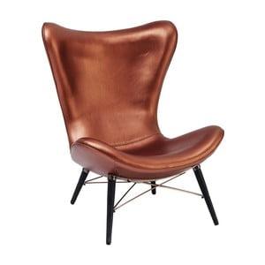 Brązowy fotel Kare Design Venice