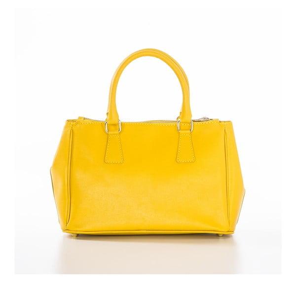 Żółta torebka skórzana Federica Bassi Saffi