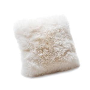 Biała poduszka z owczej wełny Royal Dream Sheepskin, 45x45 cm