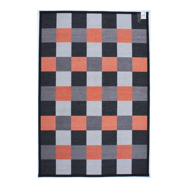 Dywan Square Black/Orange, 80x150 cm