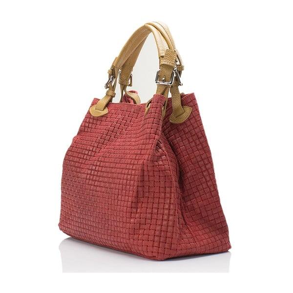 Skórzana torebka Italia 858,czerwona