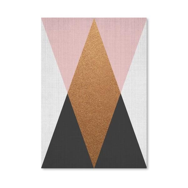 Plakat Geometric Pink Bronze