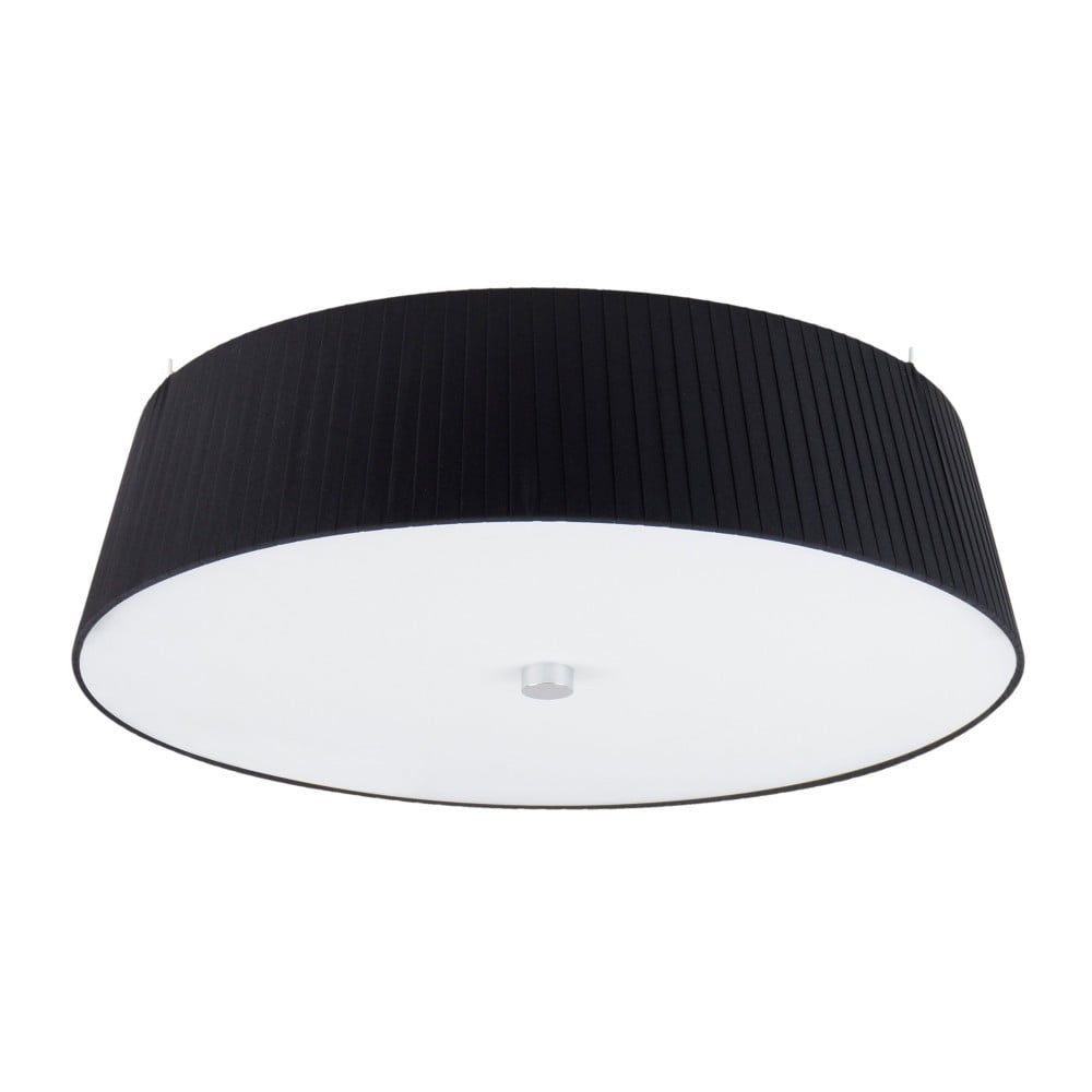 Czarna lampa sufitowa Sotto Luce KAMI,Ø45cm
