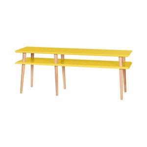 Żółty stolik Ragaba Mugo, dł. 139 cm