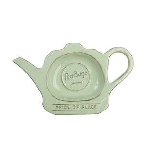 Zielony talerzyk porcelanowy na torebki herbaty T&G Woodware Pride of Place