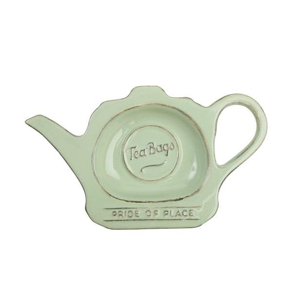 Zielony spodek ceramiczny na woreczki po herbacie T&G Woodware Pride Of Place