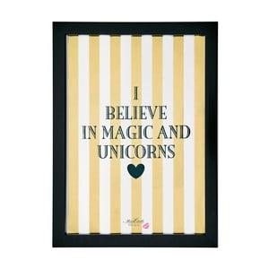 Plakat w ramie Miss Étoile I Believe, 25x33 cm