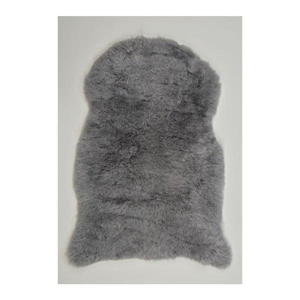 Jasnoszara skóra owcza z krótkim włosiem, 90x60 cm