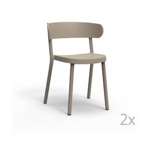 Zestaw 2 beżowych krzeseł ogrodowych Resol casino