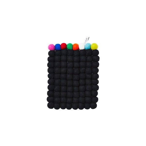 Wełniana podkładka Trivet Black/Multi, 22x17 cm