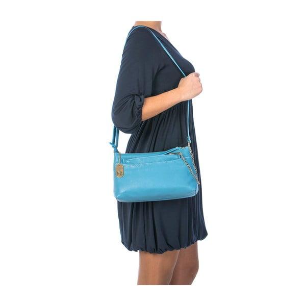 Niebieska torebka skórzana Federica Bassi Dorado