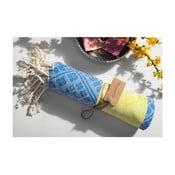 Ręcznik hammam Aztec Yellow Blue, 105x175 cm