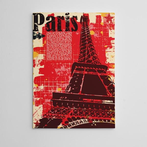 """Obraz na płótnie """"Red Paris"""", 50x70 cm"""