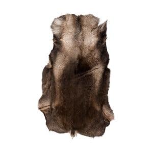 Ciemnobrązowa skóra z sobola Reino, 120x100cm