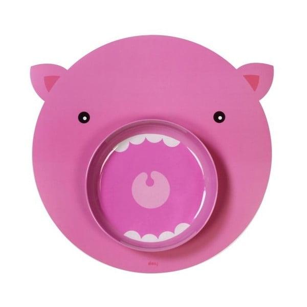 Mata stołowa i talerz Hungry Pig